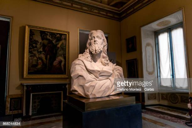 Bust 'Salvator Mundi ' of the artist Gian Lorenzo Bernini on October 30 2017 in Rome Italy On the occasion of the twentieth anniversary of the...