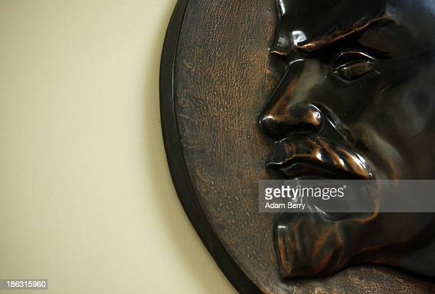 A bust Vladimir Ilyich Lenin Russian communist revolutionary politician and political theorist is displayed at the Stasi or East German Secret Police...