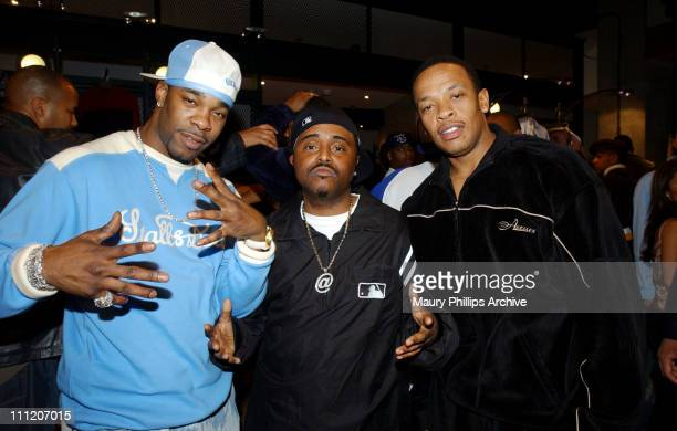 Busta Rhymes Alex Thomas and Dr Dre during Nike and Universal Music Present Nelly and St Lunatics PostAmerican Music Award Party CoSponsored by Remy...
