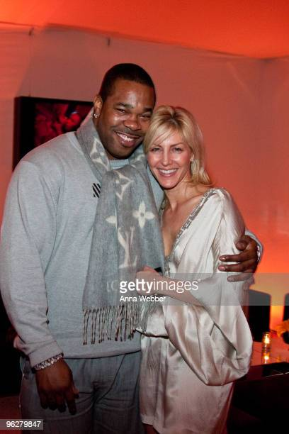 Busta Rhymes and guest attend L'Ermitage on January 29 2010 in Los Angeles California