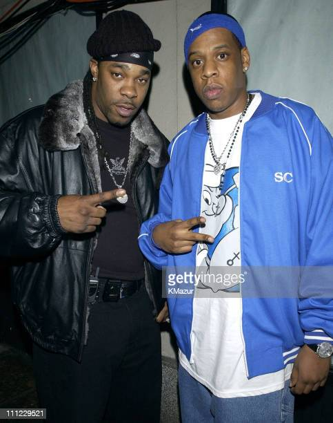 Busta Rhymes and JayZ during LIFEBeat's Urban AID 2 Benefit Concert at Beacon Theater in New York City New York United States