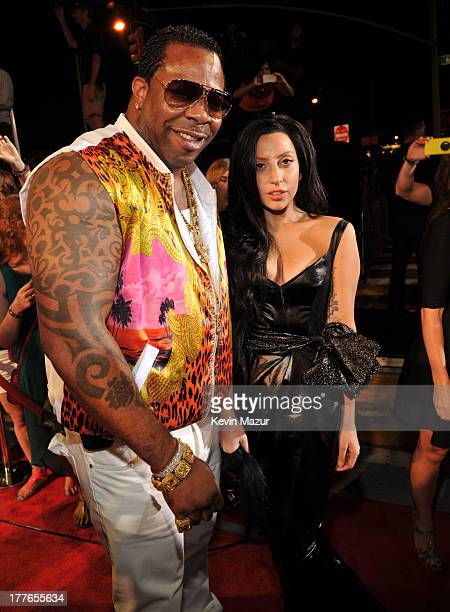 Busta Rhymes and Lady Gaga attend the 2013 MTV Video Music Awards at the Barclays Center on August 25 2013 in the Brooklyn borough of New York City