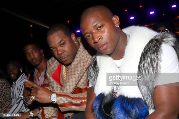 Busta Rhymes and OT Genasis are seen backstage during the BET Hip Hop Awards 2018 at Fillmore Miami Beach on October 6 2018 in Miami Beach Florida