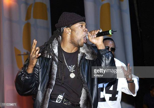 Busta Rhymes and Sean 'P Diddy' Combs during LIFEBeat's Urban AID 2 Benefit Concert at Beacon Theater in New York City New York United States