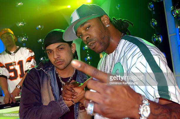 Busta Rhymes and Sean Paul during MTV's New Year's Eve Pajama Party Rehearsals Day One at MTV Studios Times Square in New York City New York United...