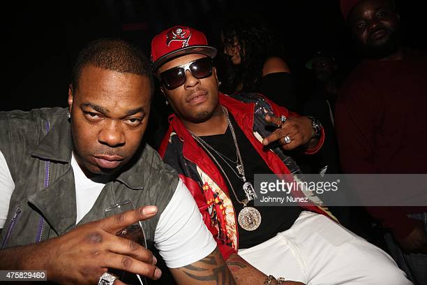 Busta Rhymes and Spliff Star attend T'ziah WoodSmith's Graduation Party on June 3 in New York City