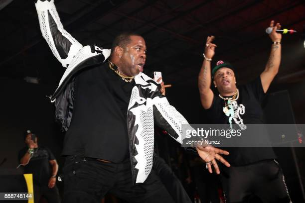 Busta Rhymes and Spliff Star perform during Day 2 of Bacardi The Dean Collection No Commission on December 8 2017 in Miami Florida