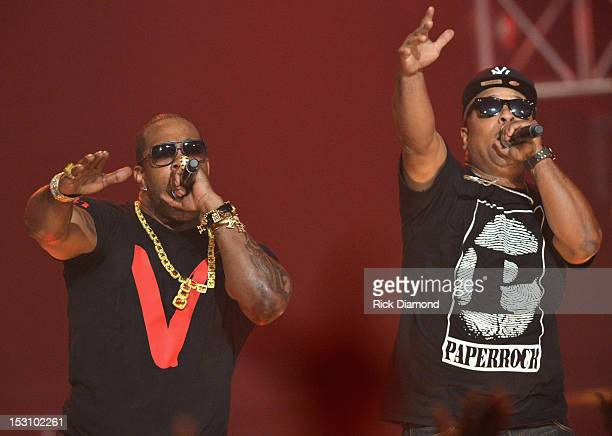 Busta Rhymes and Spliff Star perform onstage at the 2012 BET Hip Hop Awards at Boisfeuillet Jones Atlanta Civic Center on September 29 2012 in...