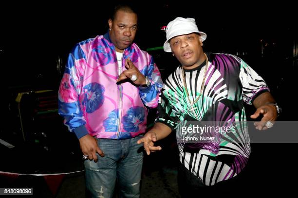 Busta Rhymes and Spliff Star pose backstage during the Meadows Music and Arts Festival Day 2 at Citi Field on September 16 2017 in New York City