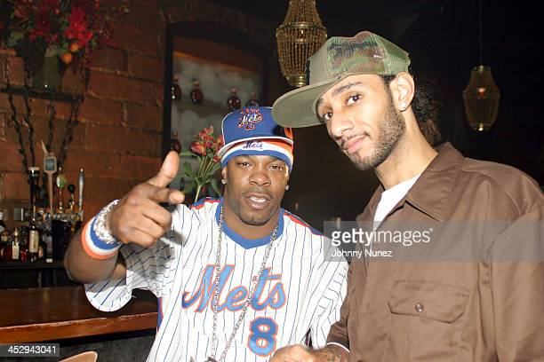 Busta Rhymes and Swizz Beatz during Rah Digga's Party And Bullshit Video Shoot at Diva Lounge in Montclair New Jersey United States