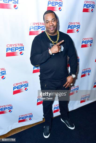 Busta Rhymes attends Crystal Pepsi Throwback Tour with Busta Rhymes at Billy's Sports Bar on August 1 2017 in Bronx City