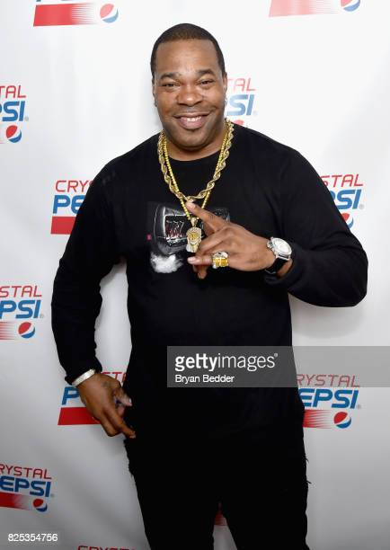 Busta Rhymes attends the Crystal Pepsi Throwback Tour to bring music baseball and iconic Clear Cola to fans at Billy's Sports Bar on August 1 2017 in...