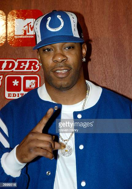 Busta Rhymes attends the Virgin Mobile and MTV launch of the Virgin Mobile Slider v5 at the Avalon nightclub November 4 2003 in New York New York