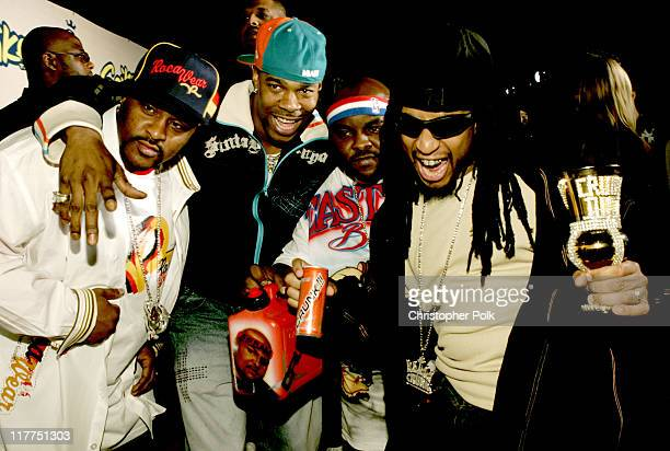 Busta Rhymes Lil' Jon and the Eastside Boys during Spike TV's 2nd Annual 'Video Game Awards 2004' Red Carpet at Barker Hangar in Santa Monica...