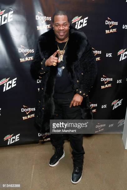 Busta Rhymes makes a surprise visit to the the Mtn Dew ICE popup at the Mall of America on February 2 2018 in Bloomington Minnesota