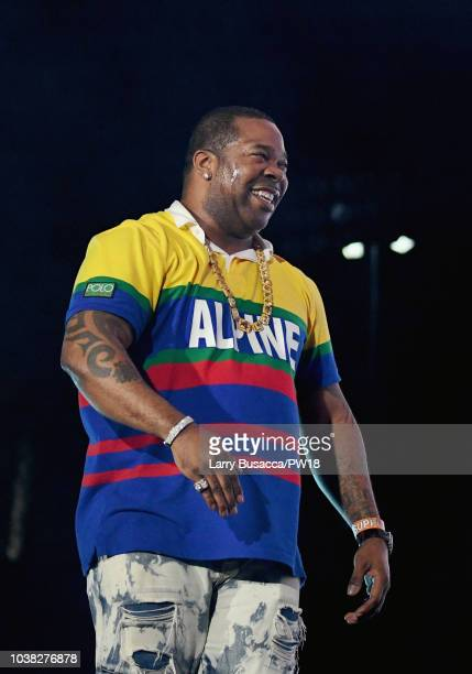 Busta Rhymes performs onstage during the 'On The Run II' Tour at Rose Bowl on September 22 2018 in Pasadena California