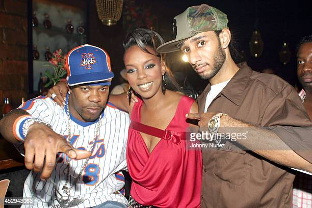 Busta Rhymes Rah Digga and Swizz Beatz during Rah Digga's Party And Bullshit Video Shoot at Diva Lounge in Montclair New Jersey United States