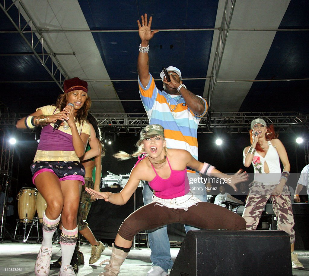 Busta Rhymes with Pussycat Dolls during Power Summit Present Interscope Party at Tranquility in Freeport, Bahamas.