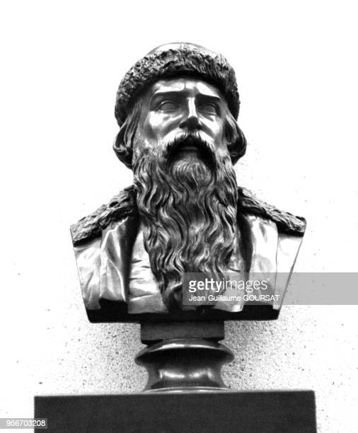 Buste de Johannes Gutenberg au Musée mondial de l'Imprimerie à Mayence en Allemagne