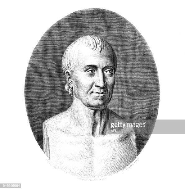 Buste de l'archéologue français l'abbé JeanJacques Barthélemy
