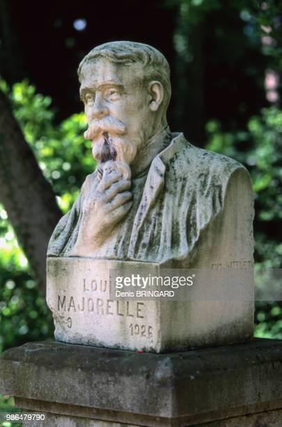 Buste de Louis Majorelle dans le parc du Musée de l'Ecole de Nancy France