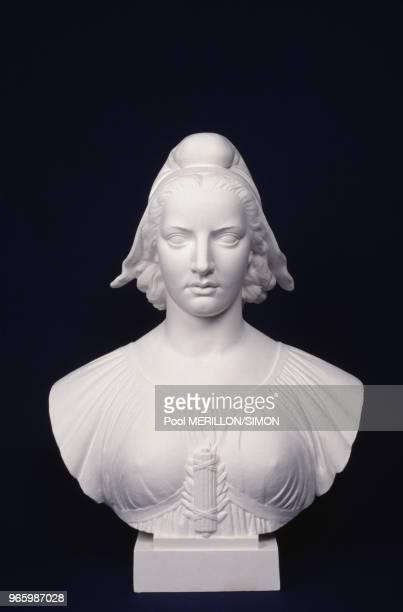 Buste de Marianne dans l'usine Festa à Beaugency dans le Loiret le 18 janvier 1989 France