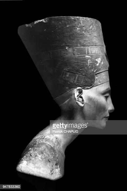 Buste de Néfertiti prise par la Deutsche Orient Gesellschaft après sa découverte 6 décembre 1912 Tell elAmarna Egypte