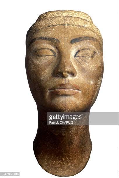 Buste inachevé découvert en 1912 par Ludwig Borchardt laissé au Musée Egyptien lors du partage du 20 janvier 1913 fait par Ludwig Borchardt Musée...