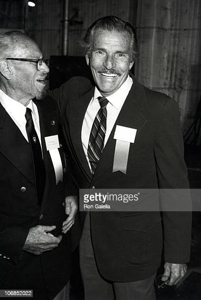 Buster Crabbe And during Luncheon Celebration Production of Film on 1984 Summer Olympic Games at 20th Century Fox Studios in Los Angeles California...