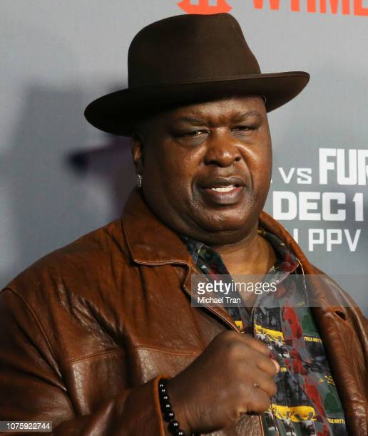 Buster Douglas arrives to the Heavyweight Championship of The World Wilder vs Fury Premiere held at Staples Center on December 01 2018 in Los Angeles...