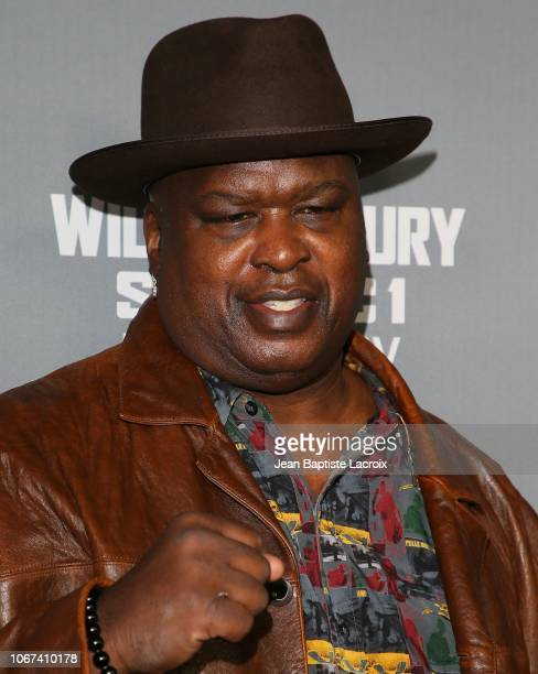 Buster Douglas attends the Heavyweight Championship of The World 'Wilder vs Fury' Premiere at Staples Center on December 01 2018 in Los Angeles...