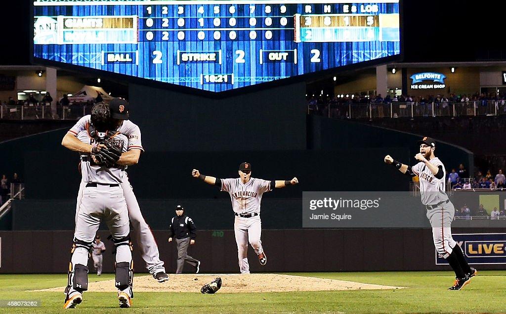 World Series - San Francisco Giants v Kansas City Royals - Game Seven : News Photo