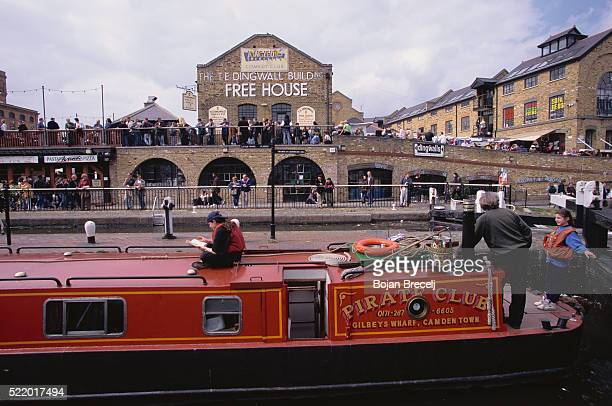 bustling camden town - camden london stock pictures, royalty-free photos & images