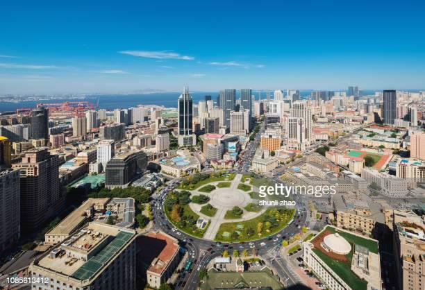 bustling city - zhongshan stock-fotos und bilder