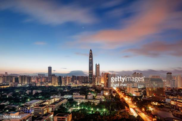 bustling city - shenzhen stock pictures, royalty-free photos & images