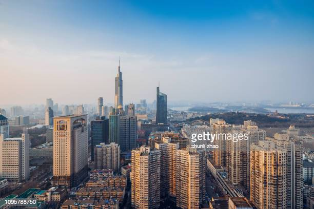 bustling city - nanjing stock pictures, royalty-free photos & images