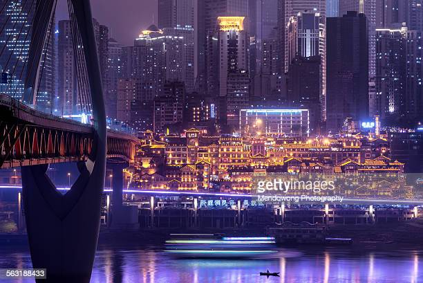 bustling city - chongqing stock photos and pictures