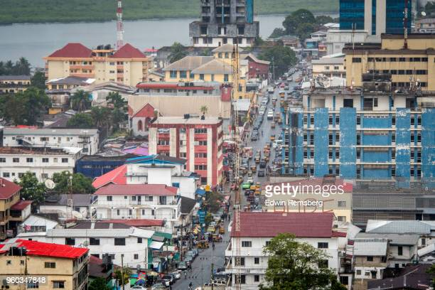 bustling city - monrovia liberia stock pictures, royalty-free photos & images