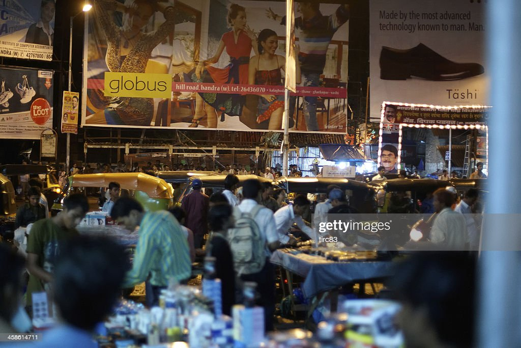 Bustling Night Time Market At Bandra West Mumbai India High Res Stock Photo Getty Images