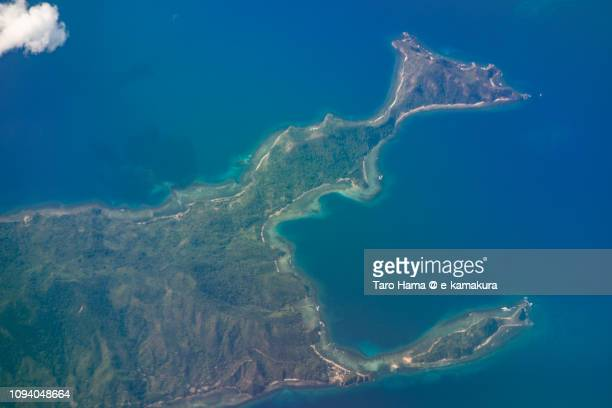 Busuanga Island in Province of Palawan in Philippines daytime aerial view from airplane daytime aerial view from airplane