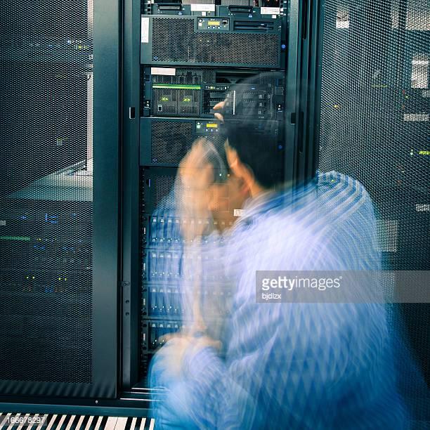 Beschäftigt administrator mit Motion blur