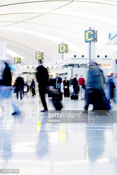 Geschäftigen Flughafen