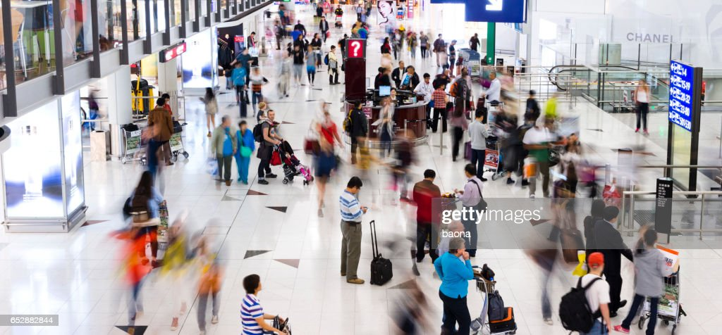 Busy airport : Stock Photo