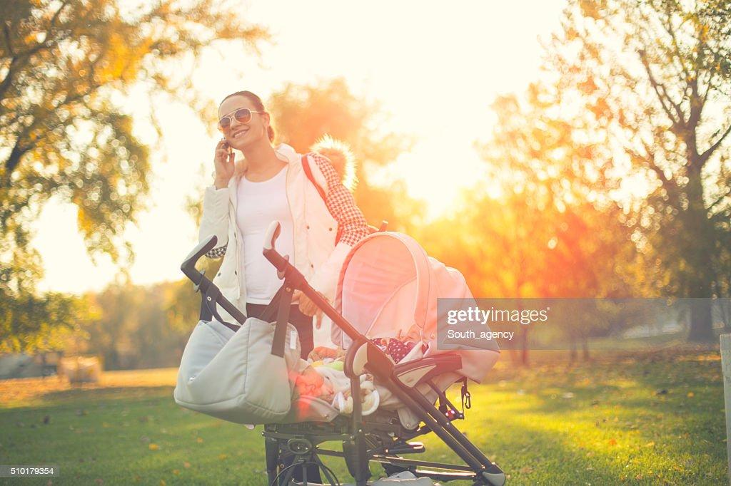 Busy babysitter : Stock Photo