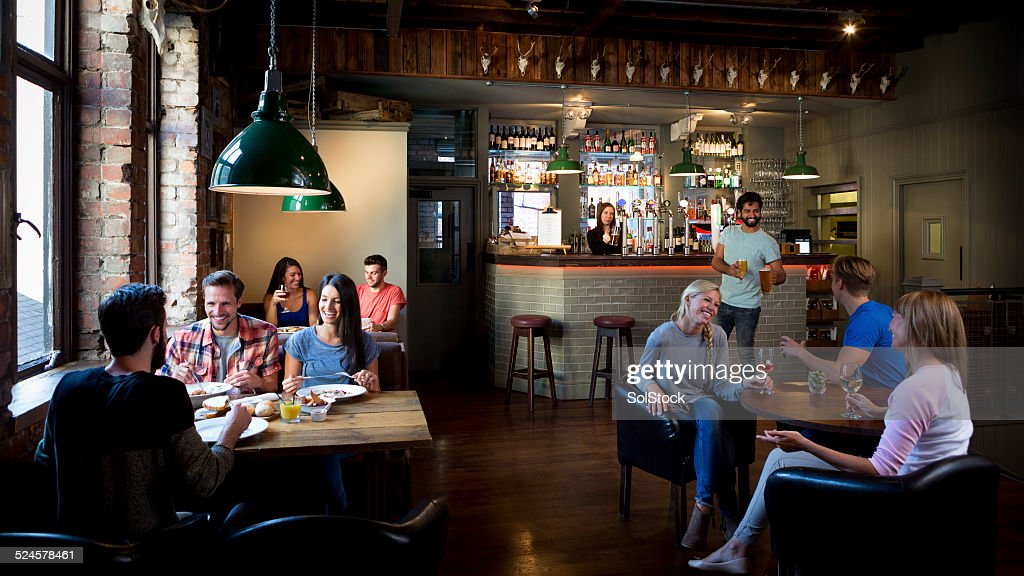 Busy Bar Scene : Stock Photo