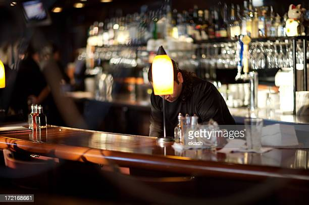 Busy Bartender in Upscale Bar