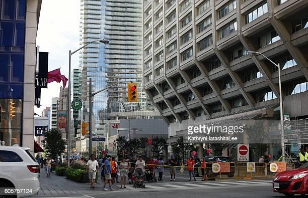Busy Bloor Street , Yorkville and Church-Yonge Corridor, Toronto in Summer