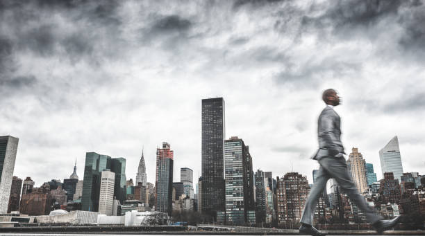 Busy Business Walking Fast On New York Wall Art