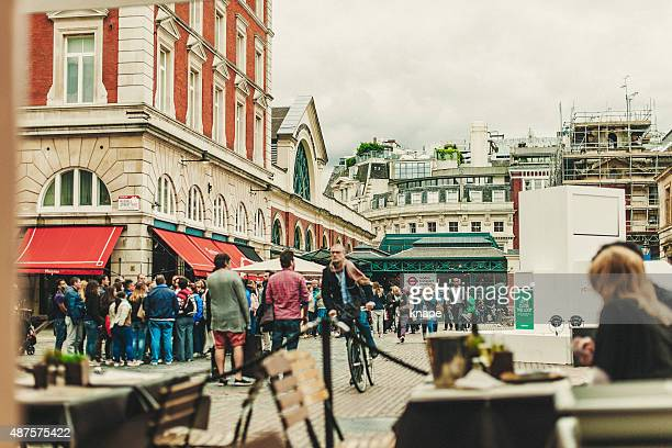 Busy center of Covent Garden London.