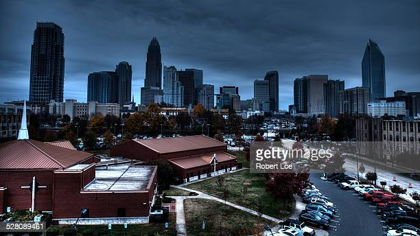 busy charlotte - charlotte north carolina stock photos and pictures